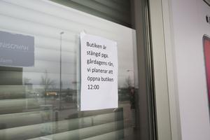 Elgigaten på Erikslund har varit stängt under förmiddagen men öppnar igen klockan 12.