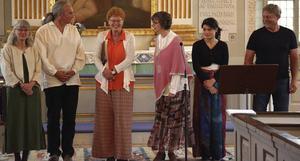 Från vänster: Margot Lundmark, Oliver Li, Lisa Andersson, Margareta H Jonsson, Clara Li, Erik Andersson.