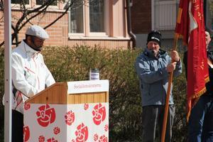 Mostafa Touil var en av årets talare på första maj.