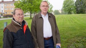 Var positiva. Dan Avdic Karlsson, V, och Carl-Erik Almskoug, OPA, trodde mycket på Vasastan som plats för vård- och omsorgsboende.