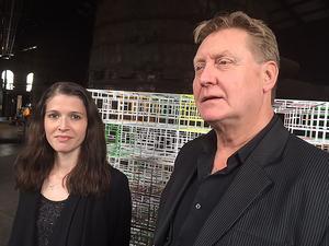 De bakom konsten. Caroline Gustafsson och Kennet Linder på Avesta Art.