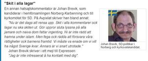 Från Expressens och Expos granskning av SD-ledamöter som ställer upp i kyrkovalet på söndag.
