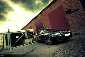 En av bilderna från plåtningen av en Audi  S4 Biturbo 2000 uppe vid Bulten Industri Område HallstahammarFoto/Redigering : Jag