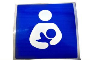 Den internationella amningssymbolen.
