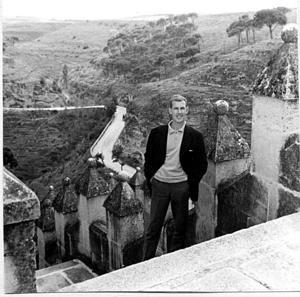 På studieresa i Spanien, Zaragoza 1961.– Jag och Birgitta åkte tåg dit för att stimulera nyfikenheten och få inspiration.