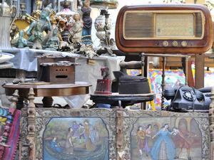 De äldre delarna av Palermo har otaliga små loppmarknader.   Foto: Ola Wickander/TT