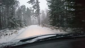 Vackert men halt ute på vägarna - kör försiktigt!