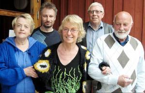 Nya i styrelsen är från vänster: Anna-Greta Svärd, ordförande Per-Göran Skoog, Ingrid Lindberg, Jan-Ove Lindholm och Thore Kjellström.