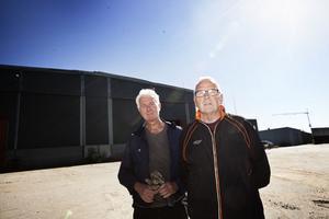 Roger Westling och Bosse Sandin i Högsjö företagarförening ser flyktingarna som en möjlighet.