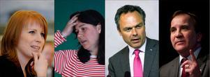 Annie Lööf, C, Åsa Romson, MP, Jan Björklund, FP och Stefan Löfven, S, bör vårda relationerna så att inte samarbete efter valet 2014 omöjliggörs.