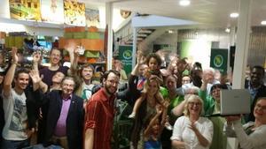 Miljöpartiet i Västeråst firar på Global Living.