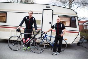 Martin som är från Östersund och Ronald som är från Stockholm tränar annars tillsammans i cykelklubben Team Halti.