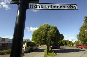 Hans Lidmans väg går från Långgatan till Öjeparken i Edsbyn.