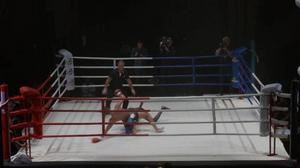 Avgörandet i titelmatchen – Chorr får en räkning efter att båda boxarna gått i golvet.
