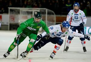 Förra säsongen spelade Edsbyn och Hammarby 5–5 i Svenska Fönster Arena. På Zinkensdamm vann Hammarby med 4–3. Foto: Jessica Gow