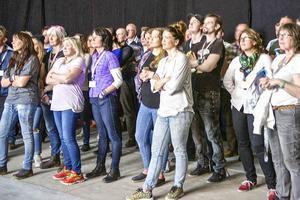 Härjedalskök inledde helgen med att visa en film om företaget för de över 100 medarbetarna som deltog i jubileet.