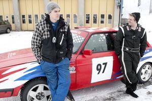 Vännerna Mikael Johansson och Joakim Ryen tävlade under lördagen tillsammans. Banan bedömde de som spännande med mycket kurvor och snabba partier.