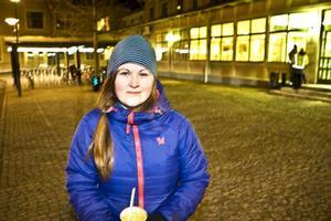 Petra Burgman har nyligen flyttat från södra Sverige till Frösön och har ingen större erfarenhet av att cykla på vinterväglag.
