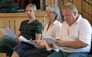 Styrelseledamöterna  Tord Zack, Christina Munck-Eriksson och Börje Konradsson.