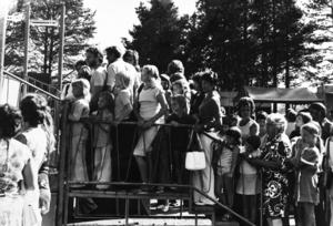 Det var mycket folk på ABBA:s spelning på Galhammarudden i Svenstavik. Ungefär som på Knytta spelmanslag, berättar Ulf Horn.
