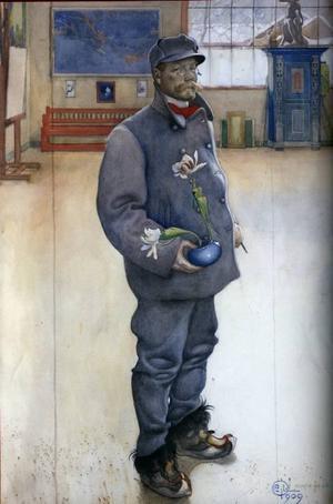 Det udda självporträttet Blomstervännen (1909) och...