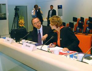 Danmarks Conne Hedegaard och Efstathios Hamboullas från Cypern.