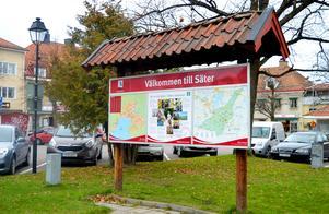 Turister och andra besökare kan inte vara nöjda med tillgången till information om Säter, skriver debattören. Foto: Karin Diffner