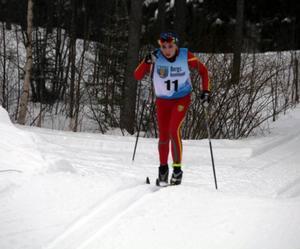 Elin Backén, Svegs IK, körde in på sjätteplats i distansloppet under helgens USM i Åsarna.