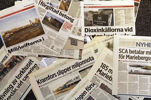 Under tio års tid har Tidningen Ångermanlands skrivit tiotals artiklar om utvecklingen vid området.