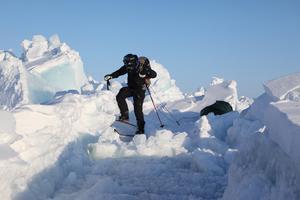 Ljudet från isen är fantastisk, säger Jonas Sundquist.