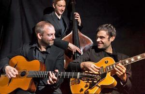 Jazztrion Martin Widlund, Robert Erlandsson och Erik Söderlind.