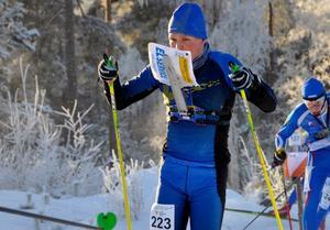 Filip Jacobsson i sitt sista JVM som skidorienterare.