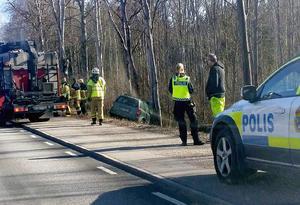 Bilolycka vid Myrö utanför Örebro.