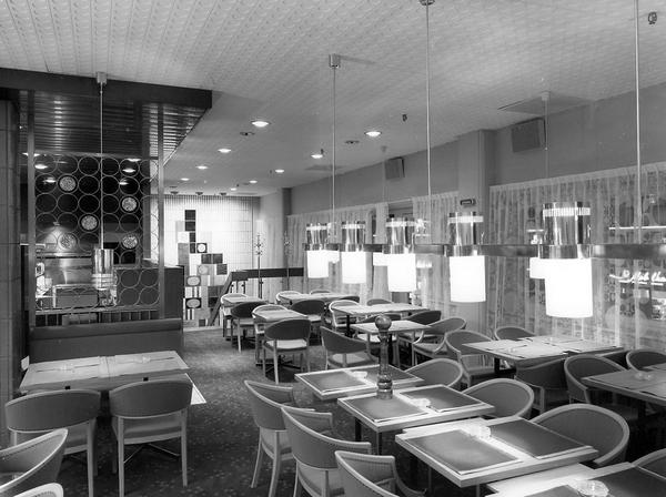 1 oktober 1966 var det så här fint på Restaurang Sigma.