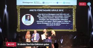 Joel Svensson, vd för Partykungen, har tidigare fått flera pris, bland annat som