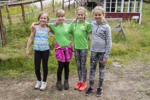 Milla Jonsson, Signe Andersson,  Agnes Jansson och Filippa Kollberg tyckte lägret var roligt.