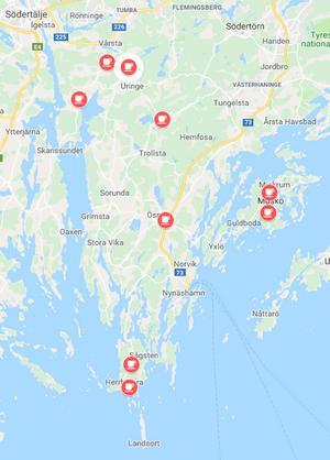 Lantliga kaféer finns på många ställen på Södertörn.