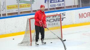 Eric Johansson under en träning med Moras U16-lag.