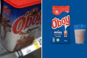 Gamla O'boy-paket till vänster och nya till höger.
