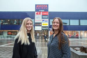Sara Eriksson och Petra Jarlheim från Avesta Centrumförening bjuder in till en start av julen i och utanför Avesta Galleri på söndag.