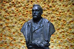Byst föreställande Alfred Nobel. Foto: Henrik Montgomery/Pool Photo via AP, File