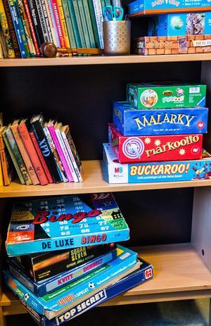 I ungdomsrummet finns mängder av sällskapsspel.
