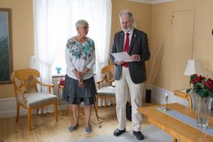 Lenneke Sundblom och Nils Matsson  höll i torsdagens tillkännagivande.