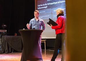 Författaren och östersundsbon Daniel Edfeldt berättade om sitt skrivande.