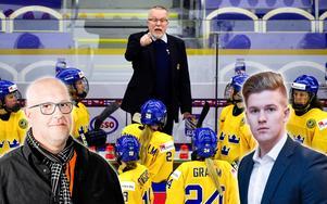 Erik Sandberg (vänster) och Adam Johansson (höger) tar här ut sitt lag till OS. Foto: Petter Arvidson / BILDBYRÅN.
