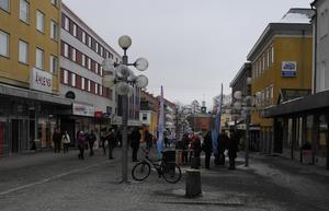 Handelsföreningen Unika Ludvika fanns på plats i centrum under lördagen.