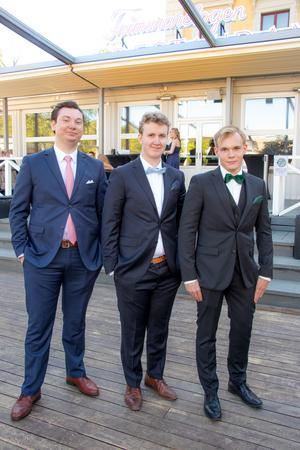 Fredrik Hinton, Linus Ljunglöv från Sabetmed16 och Marcus Nilsson.