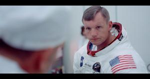 Neil Armstrong innan uppskjutningen av Apollo 11. Foto: Biografcentralen