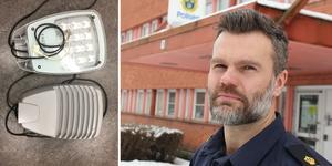 Ludvikapolisens utredningschef Pär Israelsson vill med tidningens hjälp se till att lamporna hittar tillbaka till sin rättmätige ägare.