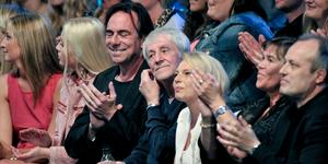 I mitten syns Västerås filmfestivals hederspristagare till årets upplaga, makarna Colin Nutley och Helena Bergström. Till vänster om Nutley sitter numera framlidne Rikard Wolff.